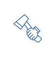 ax line icon concept ax flat symbol sign vector image vector image