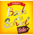 Back to School Sale Design EPS 10 vector image vector image