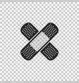 bandage plaster icon on transparent background vector image