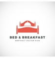 Bed and Breakfast Abstract Sign Dish Cover vector image