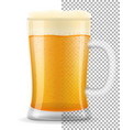 beer in mug transparent stock vector image vector image
