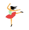 Best dance flat icon vector image vector image