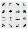 black wireless icon set vector image vector image