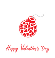 Bomb with hearts inside Happy Valentines Day vector image