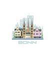 bonn city skyline city landscape with ancient vector image vector image