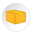 Box icon isometric style vector image vector image