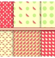 Bright set of seamless patterns with watermelons vector image vector image