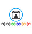 call center manager calendar day rounded icon vector image vector image