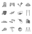 Children playground icons set vector image vector image