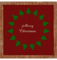 Christmas card with many trees vector image vector image
