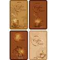 Coffee cards vector image vector image