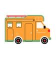 colorful rv camper way home trailer vector image vector image
