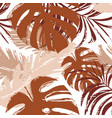 cute abstract tropical leaves in grunge camouflage vector image