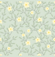 cute pastel green vine blossom seamless pattern vector image vector image