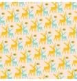 deer pattern vector image vector image