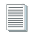 documents paper file office supplies vector image