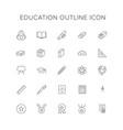 education line icon set vector image vector image