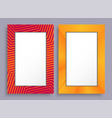 empty frames two banners of red and yellow color vector image vector image