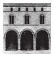 faade of a palace at bologna vintage engraving vector image vector image