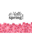 floral frames hello spring vector image vector image