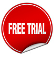 free trial round red sticker isolated on white vector image vector image