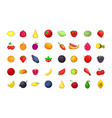 fruits icon set cartoon style vector image