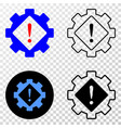 gear warning eps icon with contour version vector image vector image