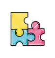 grated puzzles pieces game to idea solution vector image vector image