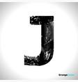 grunge letter j black font sketch style symbol vector image vector image