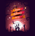 halloween character and element design background vector image vector image