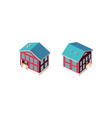 isometric set country house vector image