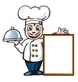 italian chef vector image vector image