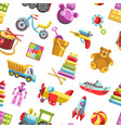 kid toys icons seamless pattern children vector image vector image