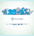 light medical background vector image vector image