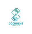 logo document sheets paper with arrows depicts vector image vector image