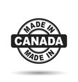 made in canada black stamp on white background vector image vector image
