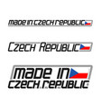 made in czech republic vector image vector image