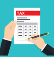 man filling tax form vector image
