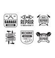 mechanic logo and badge good for print vector image vector image