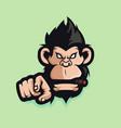 monkey mascot logo vector image