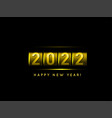 new year golden counter 2022 vector image vector image