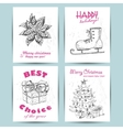 New Year greeting card with skates star gift and vector image vector image