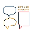 Origami speech bubble set