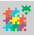 Parts of multicolor puzzles vector image vector image