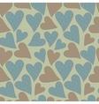 Polka dots hearts seamless pattern vector image vector image