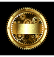 Round Mechanical Banner vector image