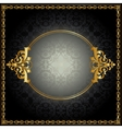 Royal pattern with frame vector image vector image