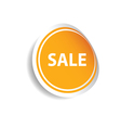 sale sticker color vector image vector image