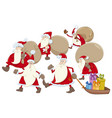 santa claus group cartoon vector image vector image