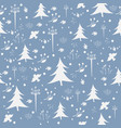 seamless wintermerry christmas pattern with vector image